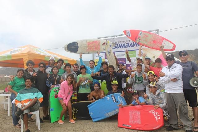 """2da fecha del circuito de verano """"Surf Sumbawa 2013""""."""