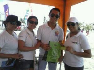 Representantes del Ministerio de Turismo y Yomaira García, Directora de Comunicación de Ecoplayas
