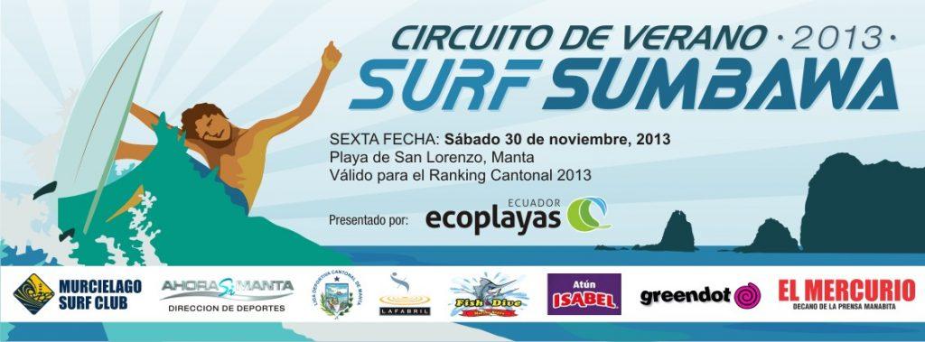 "Se prepara la 6ta fecha del circuito de surf ""Sumbawa Verano 2013"""