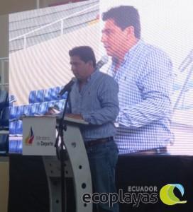 Xavíer Macías Presidente de la Liga Cantonal de Manta