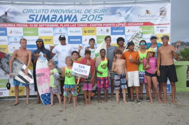 San Vicente campeón de la segunda fecha del provincial de surf