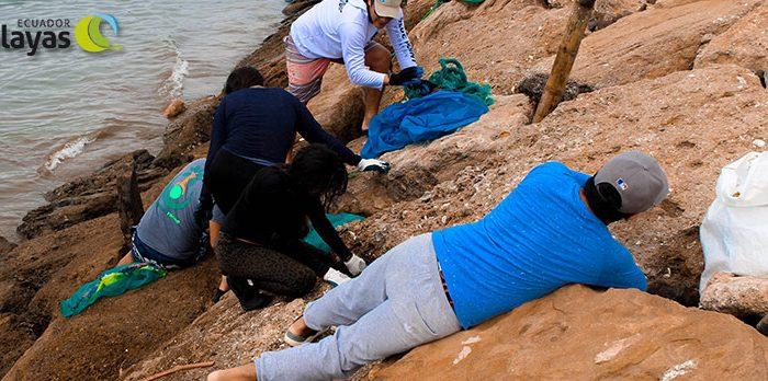 Jóvenes contra el cambio climático Limpieza del fondo marino en el muelle de San Mateo